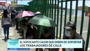 Ambulantes sufren el sofocante calor del verano