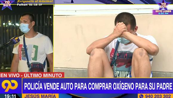 Kevin Salgado Otazo permanece todos los días en el hospital Edgardo Rebagliati a la espera de que su padre se salve y venza el COVID-19. (Latina)