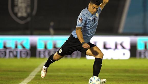 Luis Suárez es el máximo anotador de la selección de Uruguay con 63 tantos. (EFE/EPA/Sandro Pereyra / POOL)