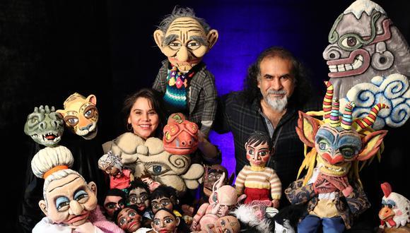 María Laura y Martín del grupo Tárbol Teatro de Títeres. (FOTOS: ALESSANDRO CURRARINO/EL COMERCIO)