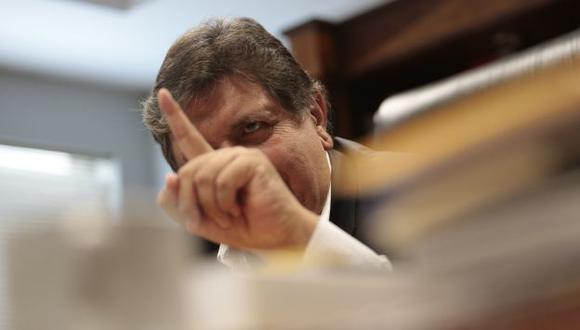 """""""YO COMPRO A MI NOMBRE"""". García ensayó así una indirecta al caso de Alejandro Toledo. (César Fajardo)"""