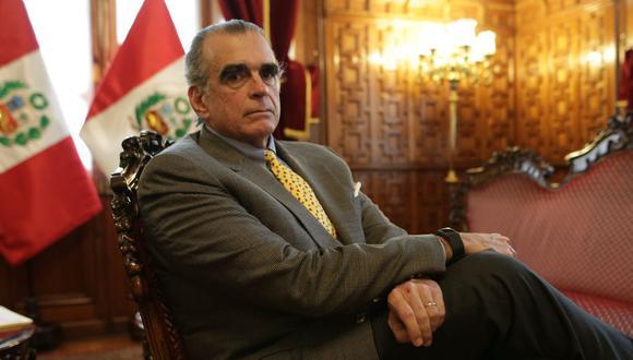 Pedro Olaechea fue presidente del Congreso hasta que fue disuelto, el 30 de setiembre de 2019. (GEC)