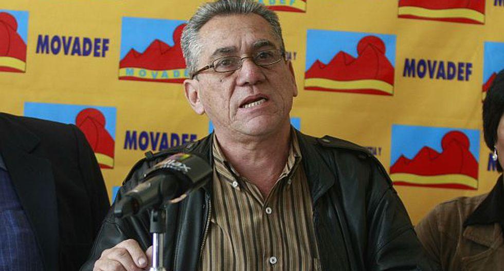Alfredo Crespo, abogado de Abimael y miembro de Movadef, se quedó con las ganas. (USI)
