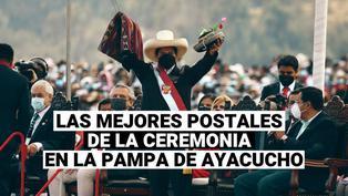 Estas son las mejores postales de la ceremonia simbólica en la pampa de Ayacucho