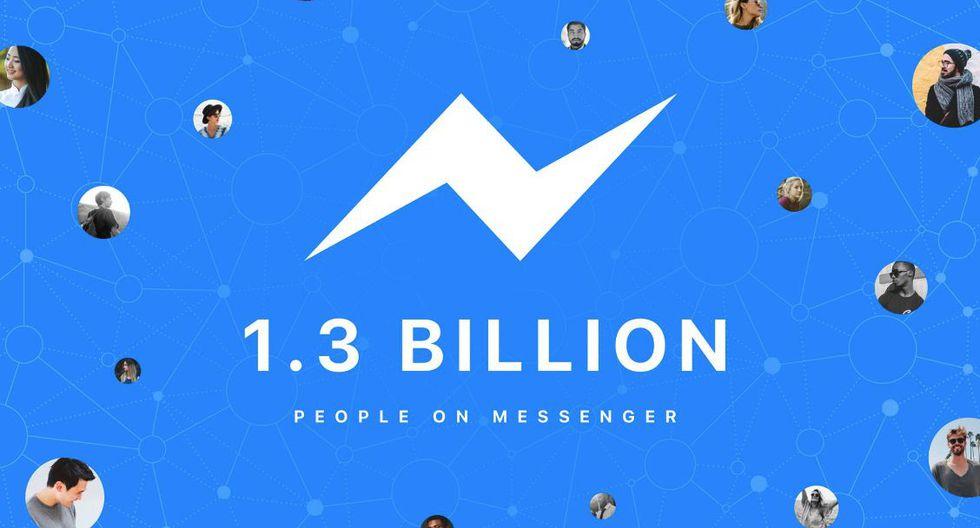 Facebook Messenger reportó 1,2 mil millones de usuarios activos. (Facebook Messenger)