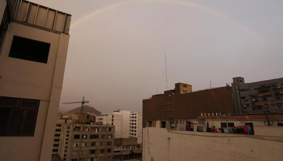 El arcoíris se pudo apreciar en diversos distritos de Lima. (Foto: Francisco Neyra/ @photo.gec)