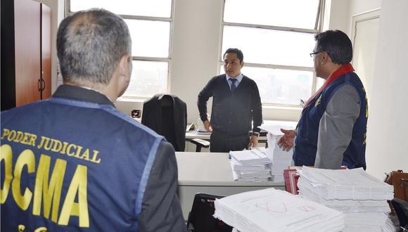 Hugo Velásquez coordina con Hinostroza en audios. (OCMA)