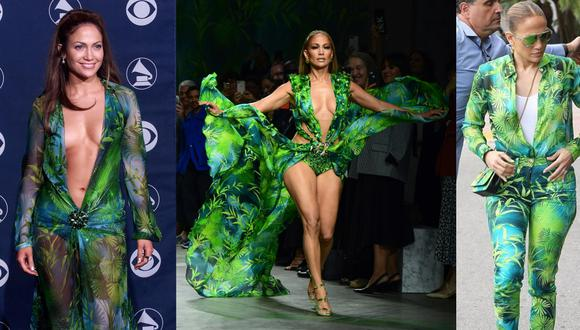 El vestido que JLo usó en los Grammy 2000 ha sufrido varias transformaciones.