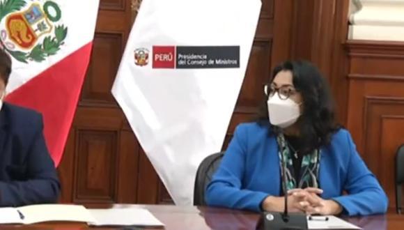 Se realiza la transferencia de mando en la Presidencia del Consejo de Ministros. (Captura TV Perú)