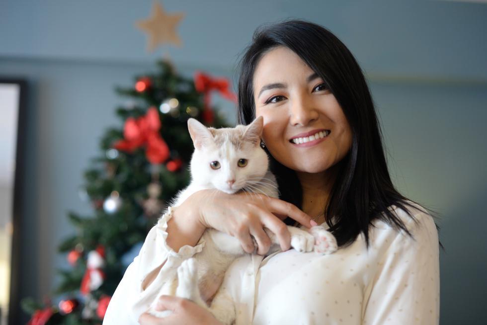 Panchini y su dueña Silvana Wong.