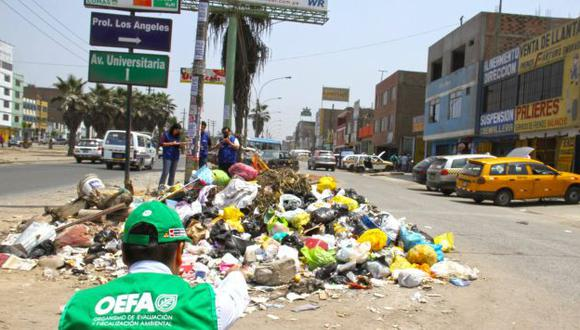 Comas es uno de los distritos afectados por la acumulación de basura. (OEFA)