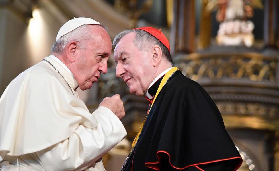 Papa Francisco en Perú: Sumo Pontífice se reunió con Juan Luis Cipriani en el Arzobispado de Lima. (AFP)
