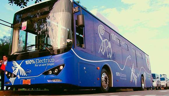 El bus eléctrico permitirá renovar la flota del transporte urbano. (GEC)