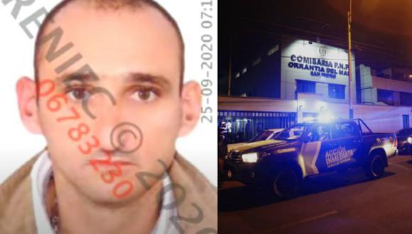 Alvaro del Río mató a balazos a policía en la comisaría de Orrantia en San Isidro.