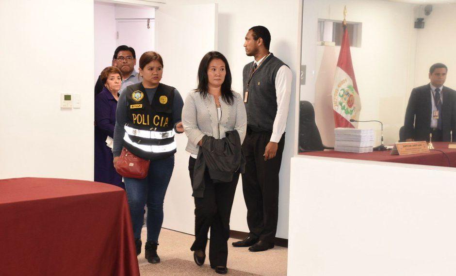 Keiko Fujimori fue a la Sala Penal con el fin de iniciar su audiencia de control de identidad. (Poder Judicial)