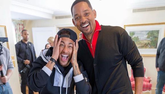 El actor Will Smith sorprendió a Neymar en Paris, Francia. El encuentro fue publicado en la red social de ambos famosos. (Foto: Instagram)