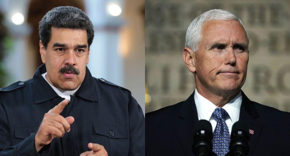 """Nicolás Maduro Maduro tildó el discurso De Mike Pence de """"irresponsable y apestoso"""", y planteó que su intención parece ser """"sacar del camino"""" a Trump en la carrera presidencial estadounidense. (Foto: AFP)"""