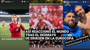 Eurocopa 2020: Así fue la reacción del mundo del fútbol tras el desmayo de Eriksen