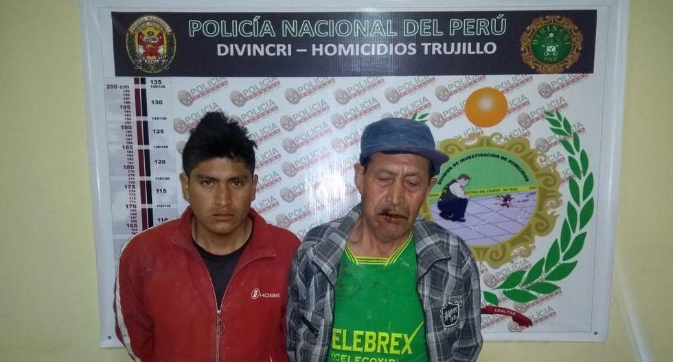 Nicolás Siccha Valverde (63) y su hijo Joel Siccha Murga (22) fueron capturados.