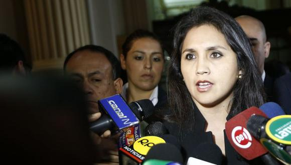 Ana María Solórzano conversó con la prensa sobre caso Áncash. (César Fajardo/Referencial)