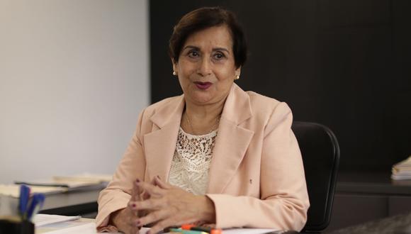 Inés Tello resaltó que desde la Junta Nacional de Justicia realizan un trabajo transparente. (Foto: Antonhy Niño de Guzmán / Grupo El Comercio)