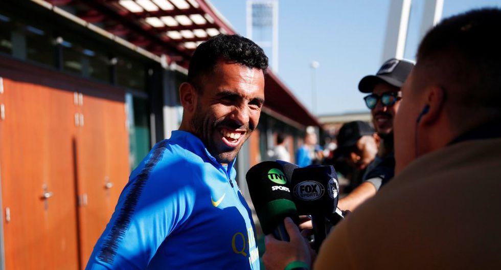 "Carlos Tevez considera ""extraño"" jugar la final de la Copa Libertadores en Europa (Foto: Reuters)."