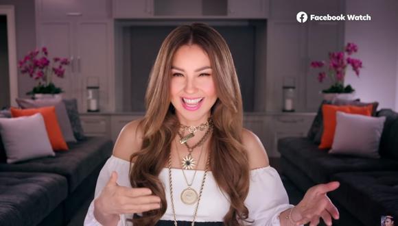 Thalía afirmó que en ocasiones usa un tono muy similar al de María la del Barrio y comienza a decir groserías (Foto: Captura de YouTube).