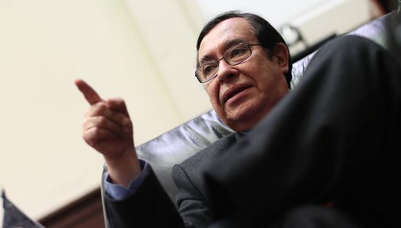 El presidente del Poder Judicial, Víctor Prado, aseguró que en su breve mandato establecerá las bases de la reforma de su sector. (Foto: USI)