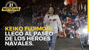 Keiko Fujimori llegó al paseo de los héroes navales.