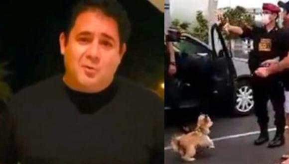 'Cachito' rompió su silencio tras ser llevado a comisaría por pasear a su mascota. (Composición)