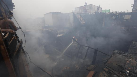 Incendio consumió una vivienda en Villa María del Triunfo. (Foto Referencial: Violeta Ayasta)