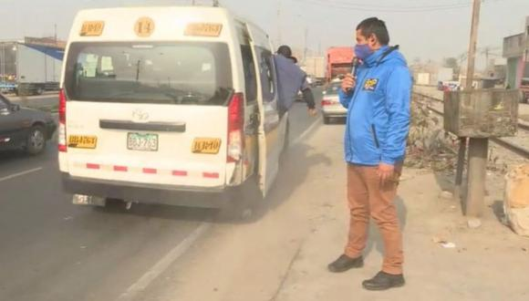 Conductor de transporte público intenta atropellar periodistas de Buenos Días Perú para frustrar cobertura (Captura: BDP)