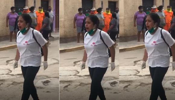 Cañete: Mujer se enfrenta a vecinos que no la dejaban sepultar a su padre víctima de coronavirus en cementerio local.