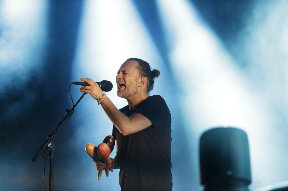 Thom Yorke, líder de Radiohead que se presentó en Lima el martes pasado (Luis Centurión/Perú21).