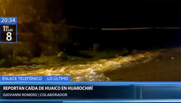 El huaico que cayó en el norte de Huarochirí causó que algunos transportistas opten por regresar y no avanzar en la Carretera Central. (Canal N)