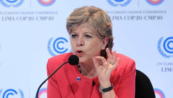 La secretaria ejecutiva de la Cepal, Alicia Bárcena, dio cuenta del informe en la Cumbre del Cambio Climático COP20. (EFE)