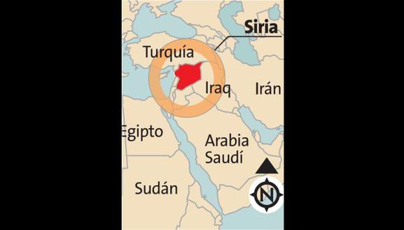 La República Árabe Siria está ubicada en el Oriente Medio, en la orilla oriental del Mar Mediterráneo.