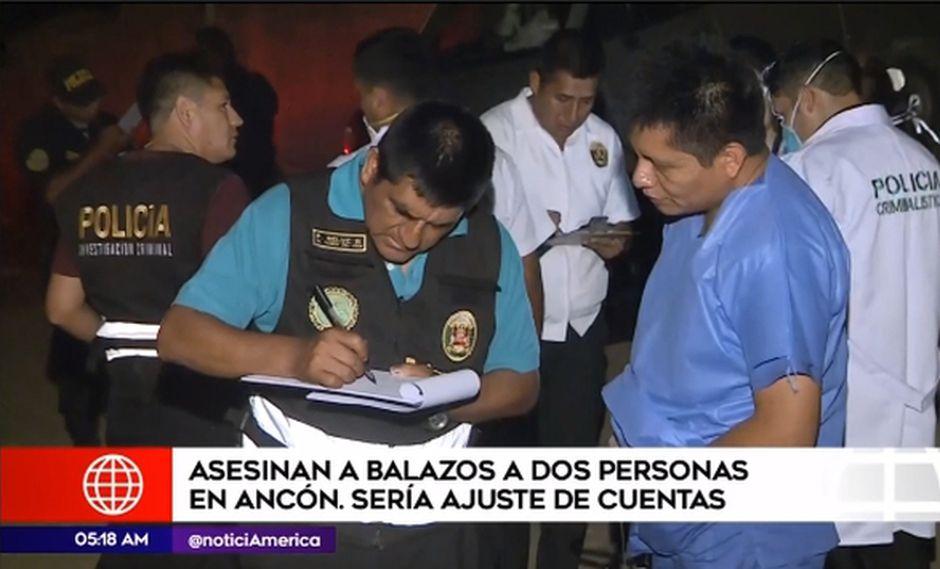 Ancón: Mujer y hombre son asesinados en descampado por presunto ajuste de cuentas.