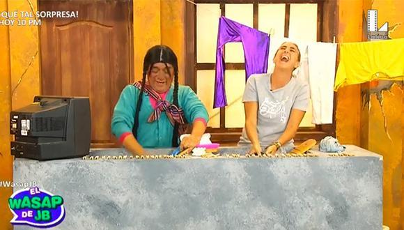 Natalia Málaga estuvo en el programa 'El wasap de JB' y esto fue lo que pasó. (Captura)
