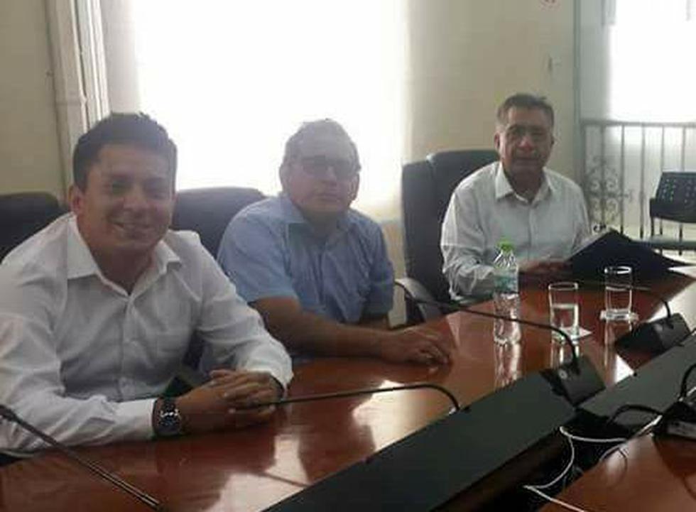 Los ex regidores Luis Cabrejos, Boris Bartra y el ex alcalde de Chiclayo Davod Cornejo. (Facebook Boris Bartra)