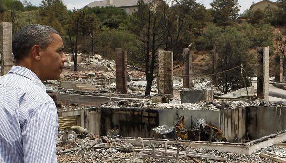 El presidente Obama visitó ayer la zona afectada. (Reuters)