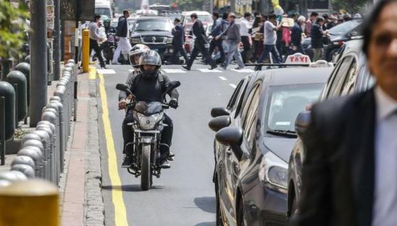 Buscan prohibir motos con dos personas a bordo. (Foto: GEC)