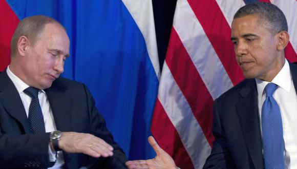Vladimir Putin y Barack Obama en cumbre del G20 de 2012. (AP)