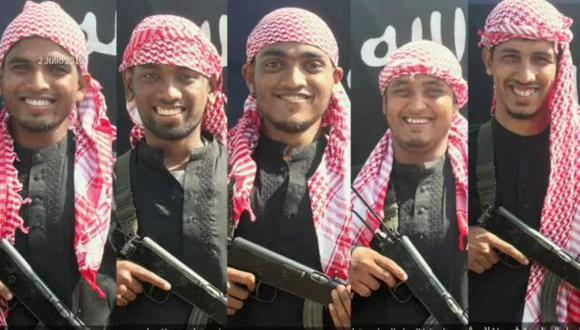 Estado Islámico publicó las fotos de los que habrían ejecutado el acto terrorista. (Foto: AFP)