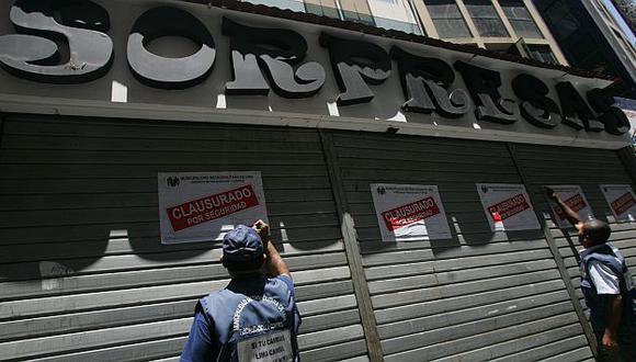 Alcaldía cerrará galerías que no cumplan las normas. (Rochi León)