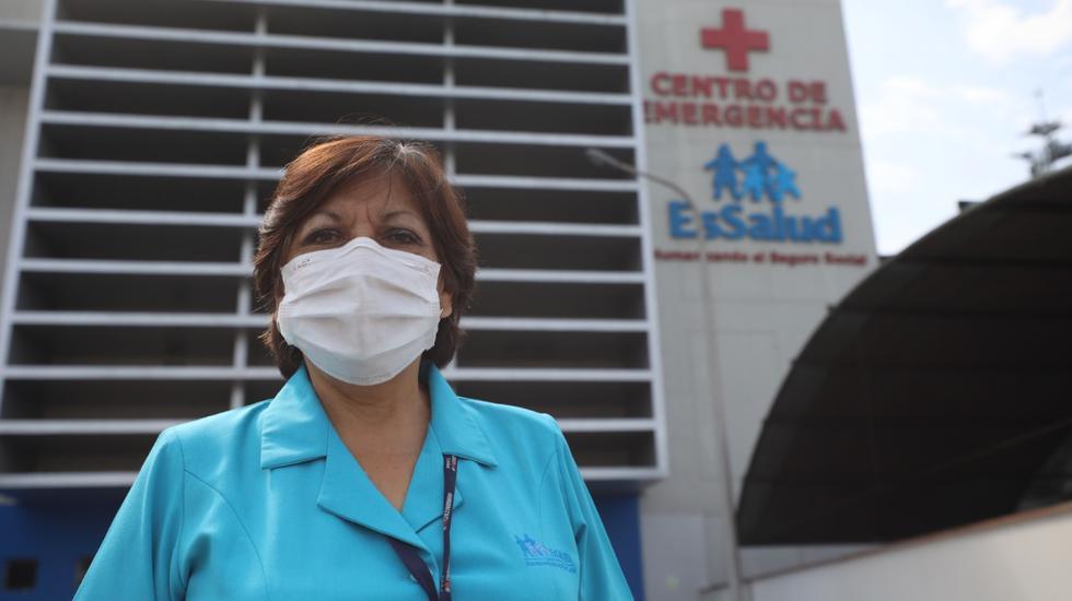 Carmen Pereyra, ha sido testigo de complejas situaciones en los pasillos de la Emergencia del hospital Edgardo Rebagliati. (Foto: Essalud)