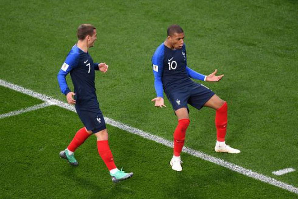 Kylian Mbappé anotó el primer gol para Francia. (GETTY)