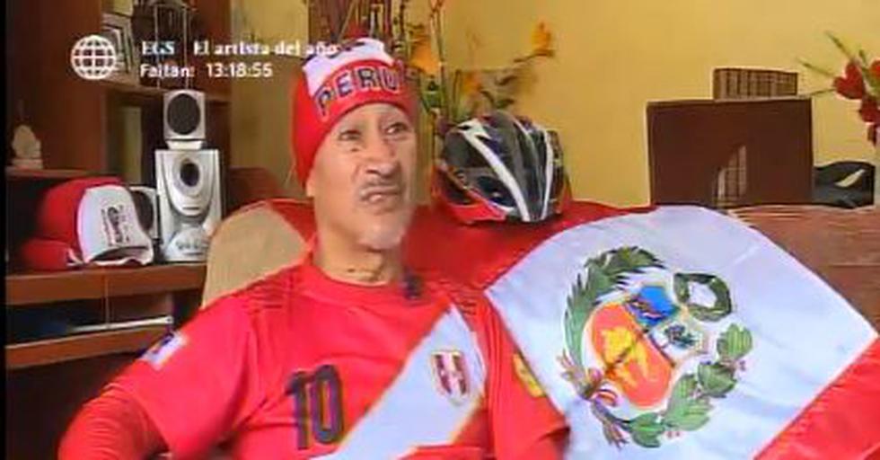 Pedro Nuñez Soto, o simplemente 'Don Pedrito', no encontró mejor manera de celebrar el final de la espera de 36 años que representa la presencia de Perú en Rusia 2018.