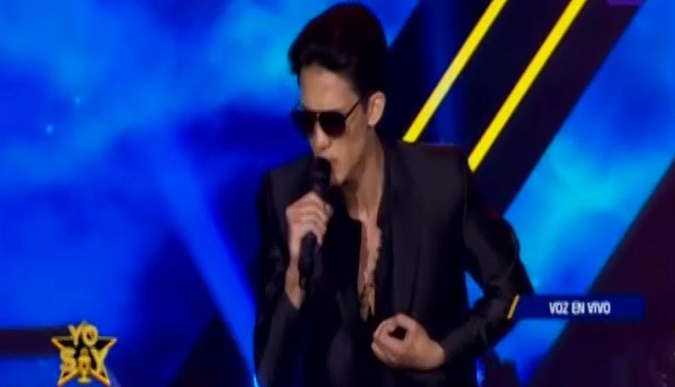 """El imitador de Marc Anthony cantó el tema """"Qué precio tiene el cielo"""". (Foto: Captura de video)"""