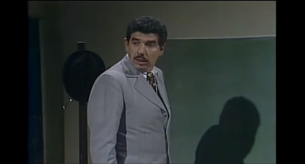 Las divertidas intervenciones del profesor Jirafales, en El Chavo del Ocho, son recordadas con cariño por todos. (Foto: Captura de YouTube)